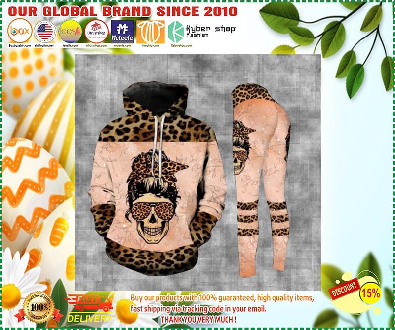Skull leopard bad moms club 3D hoodie and legging 11