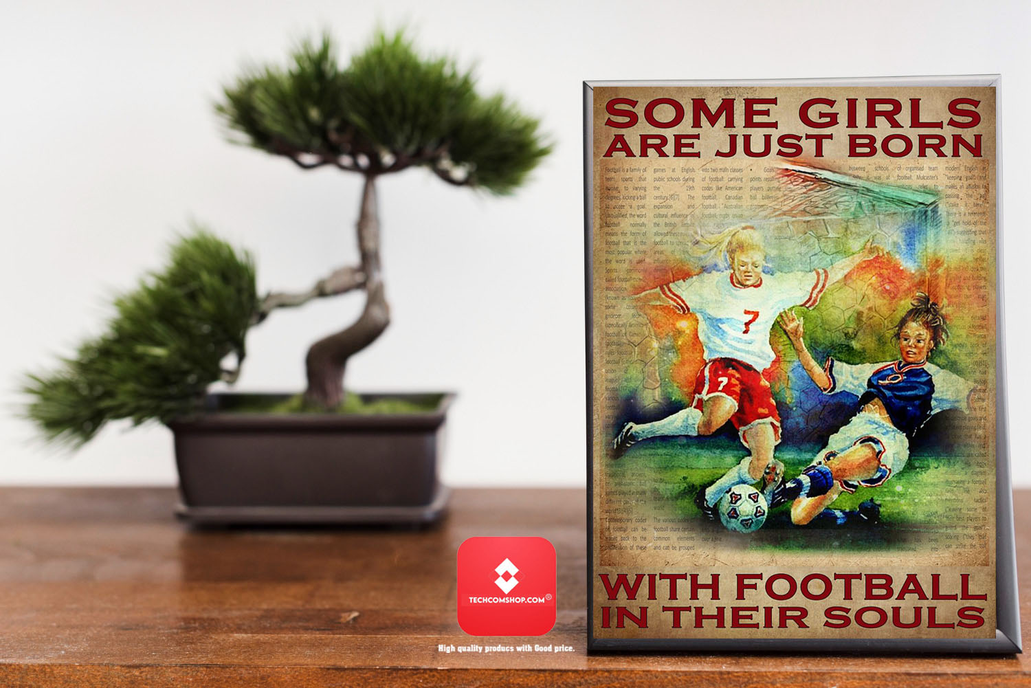 Some girls are just born with football in their souls poster 7