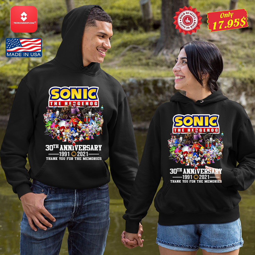 Sonic the hedgehog 30th anniversary 1991 2021 thank you for the memories Shirt 10