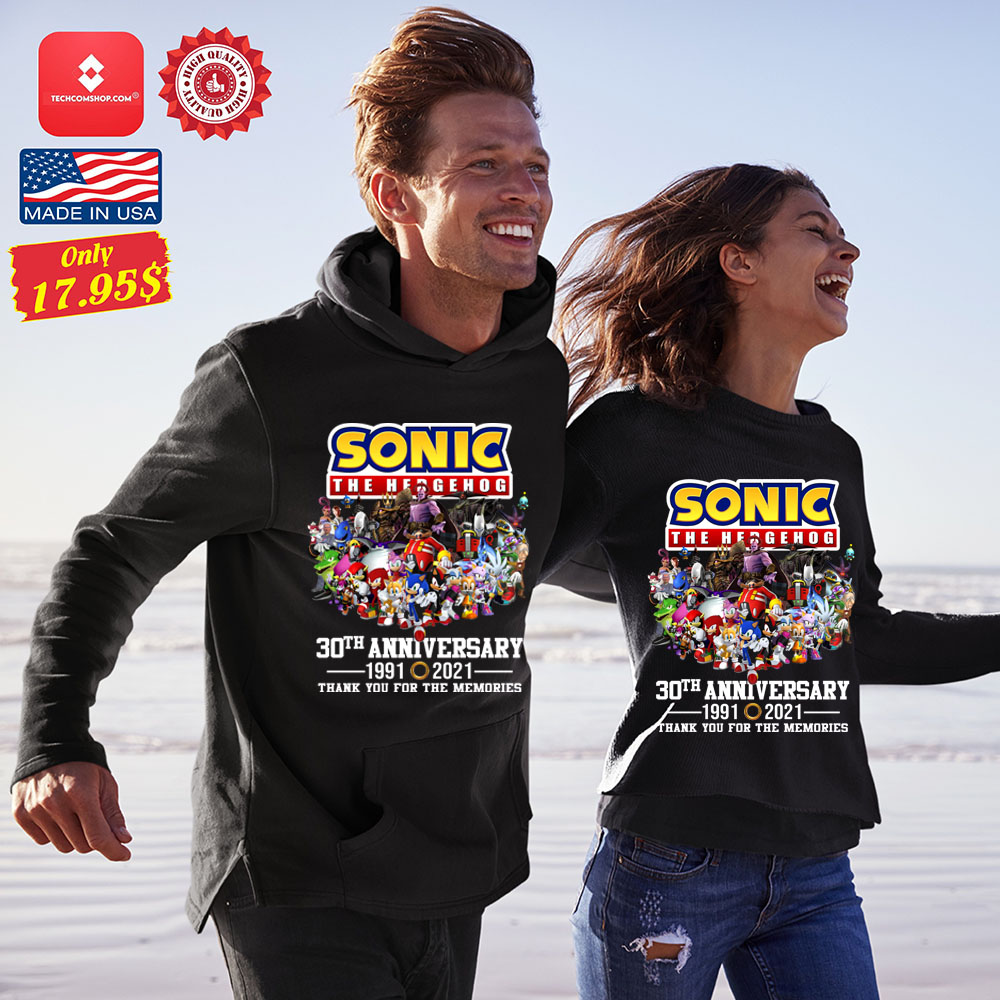 Sonic the hedgehog 30th anniversary 1991 2021 thank you for the memories Shirt 12