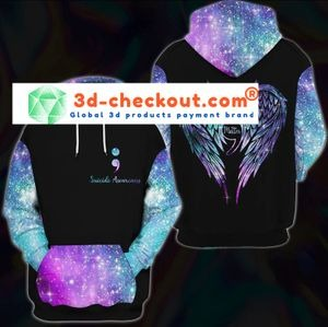 Suicide awareness you matter 3D over print hoodie 4
