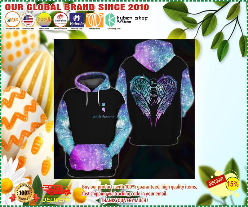 Suicide awareness you matter 3D over print hoodie 10