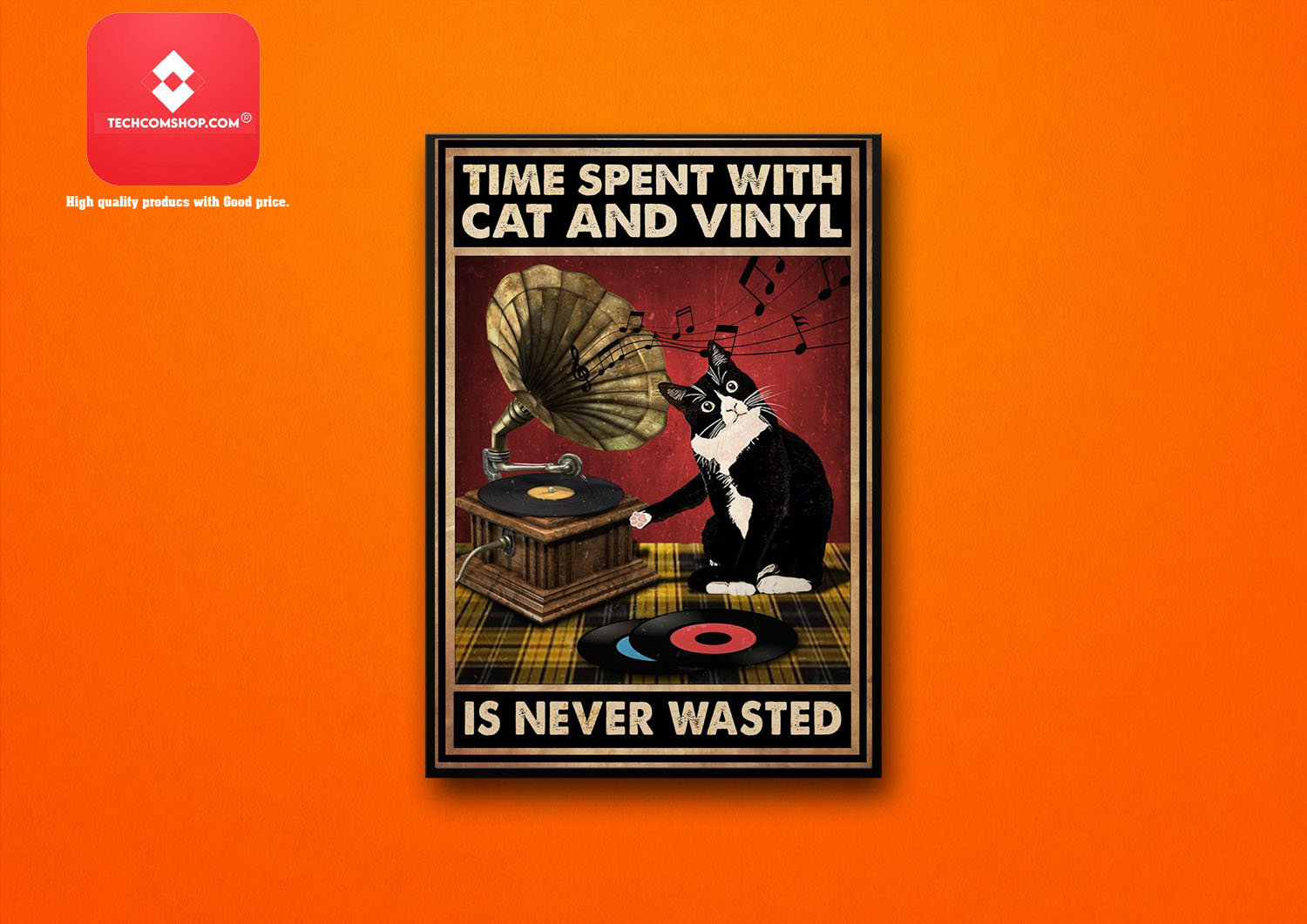 Time spent with cat and vinyl is never wasted poster10