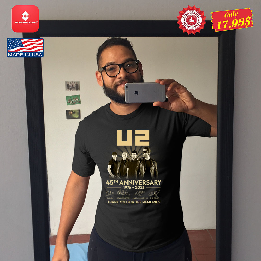 U2 45th anniversary 1976 2021 thank you for the memories Shirt 11