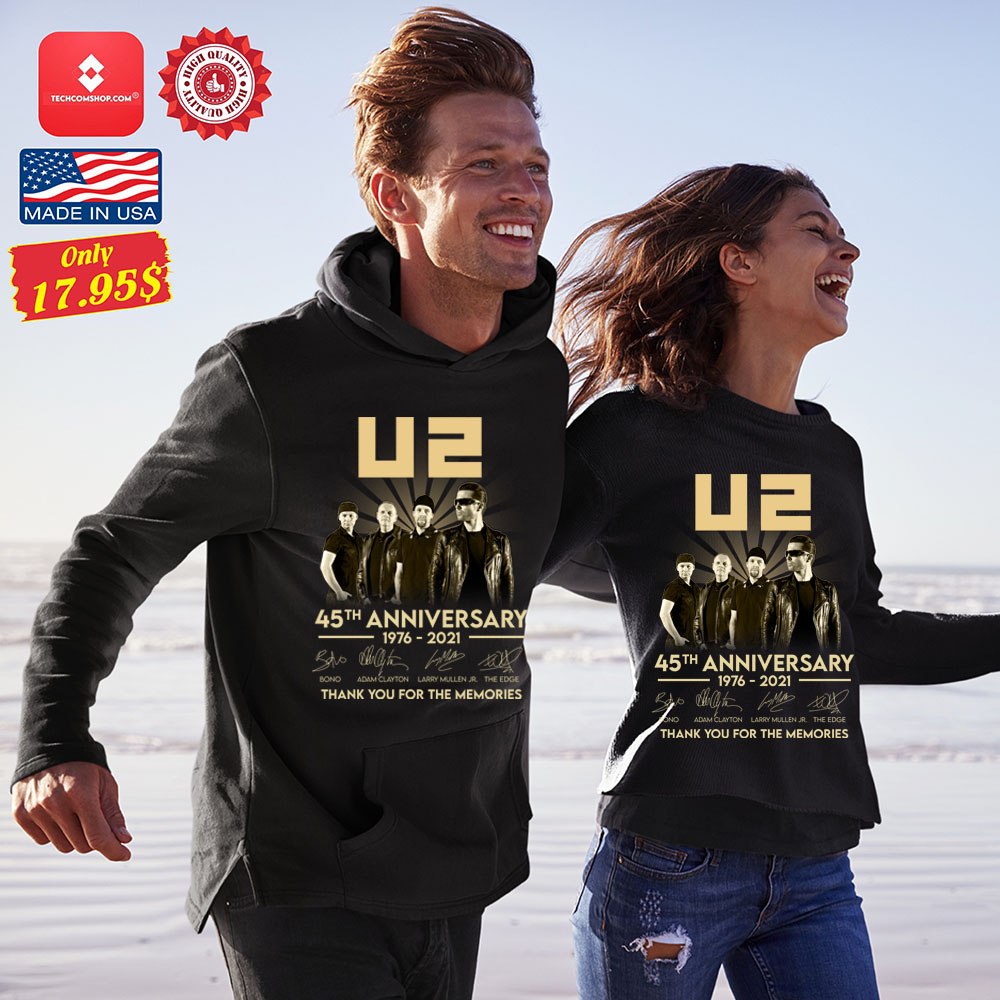 U2 45th anniversary 1976 2021 thank you for the memories Shirt 12