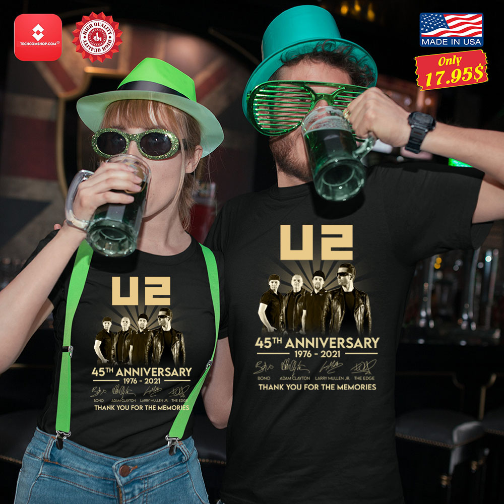 U2 45th anniversary 1976 2021 thank you for the memories Shirt 13