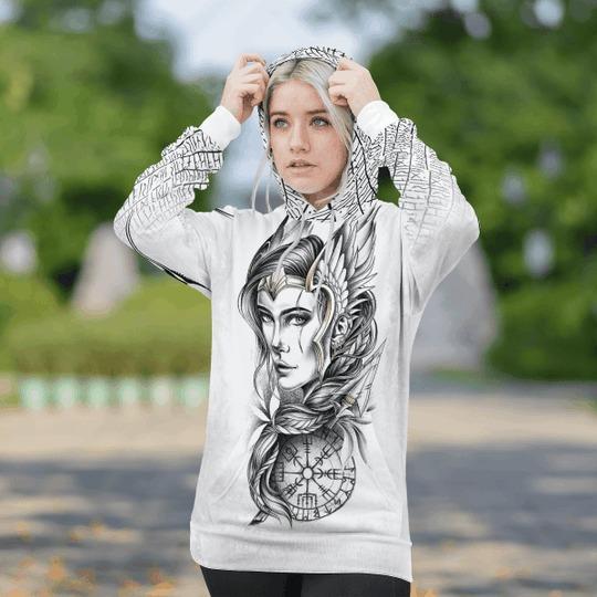 Viking Goddess freya 3D hoodie 1