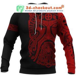Viking Odin art 3D hoodie 4