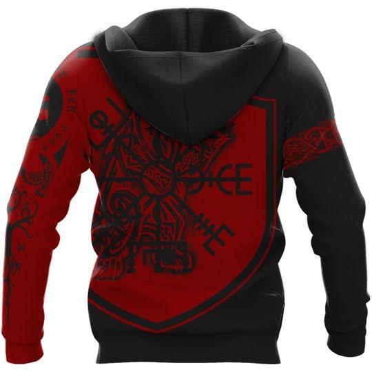 Viking Odin art 3D hoodie 2