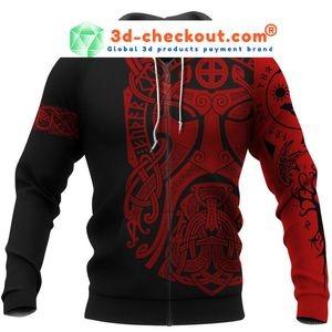 Viking Odin art 3D hoodie