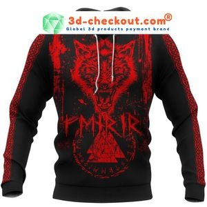 Viking fenrir wolf 3D hoodie 4