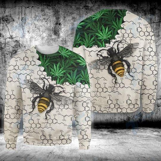Weed bee happy dictionary 3D hoodie 4