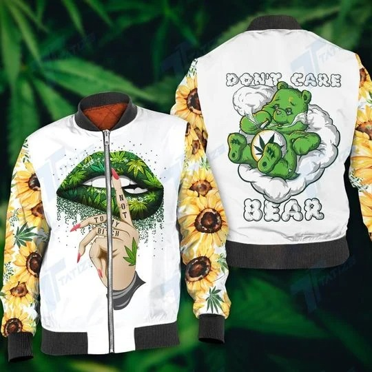 Weed don't care bear 3d hoodie and legging 1