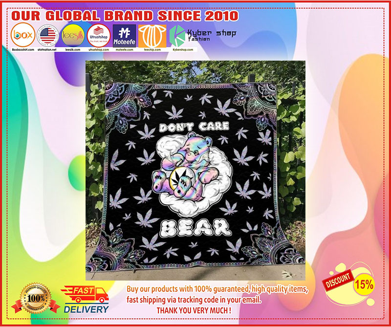 Weed don't care bear blanket 9