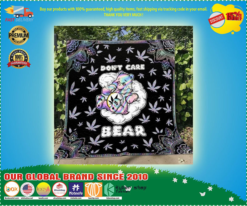 Weed don't care bear blanket 10