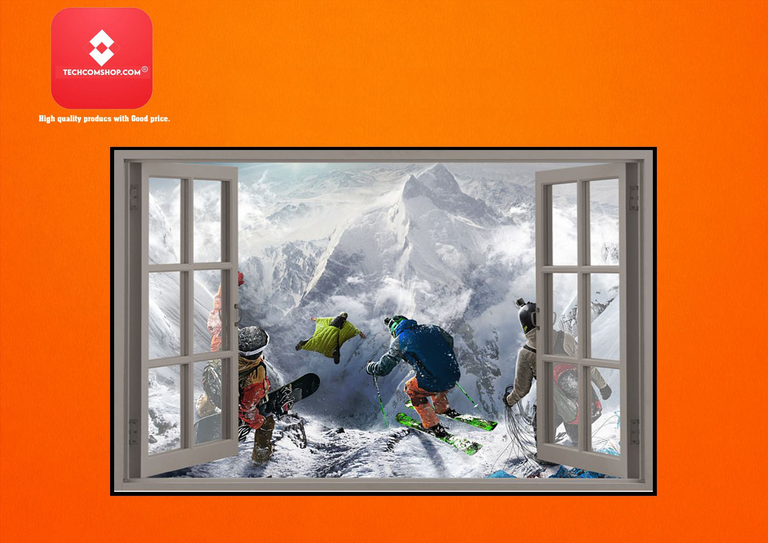 Winter sports window view poster 8