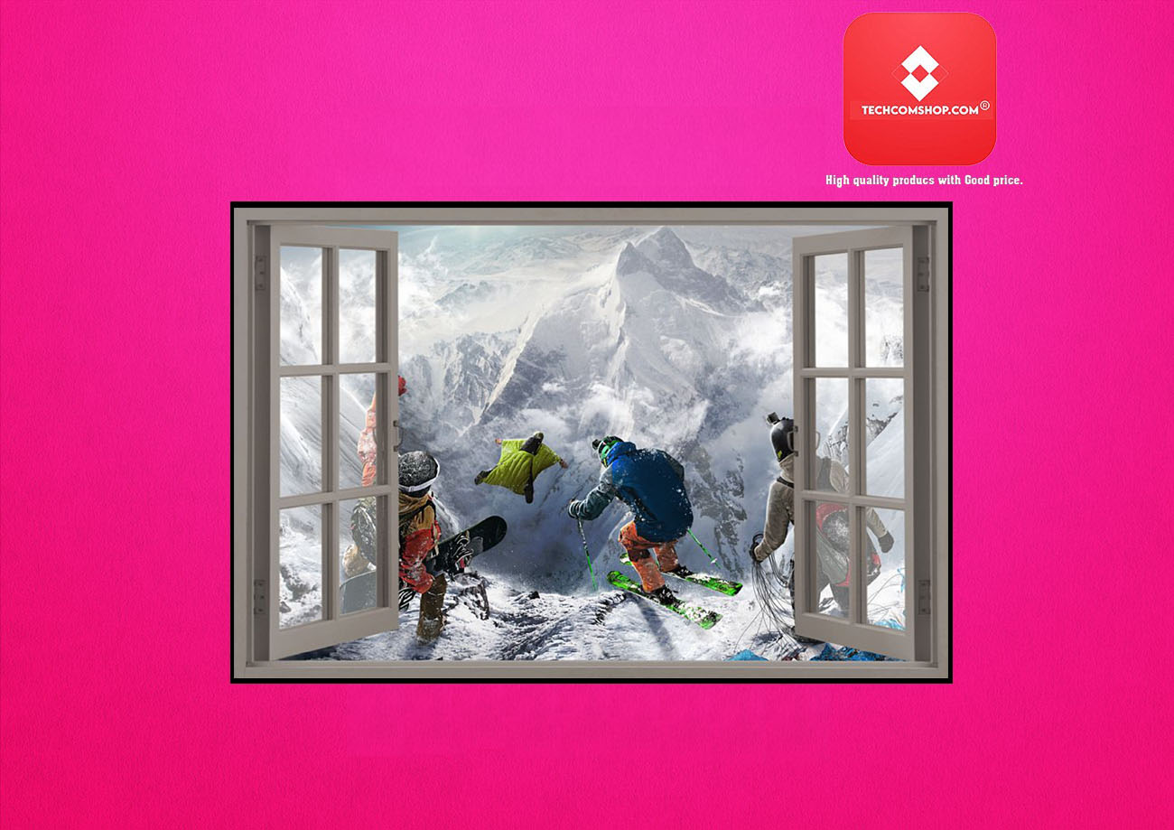 Winter sports window view poster 7