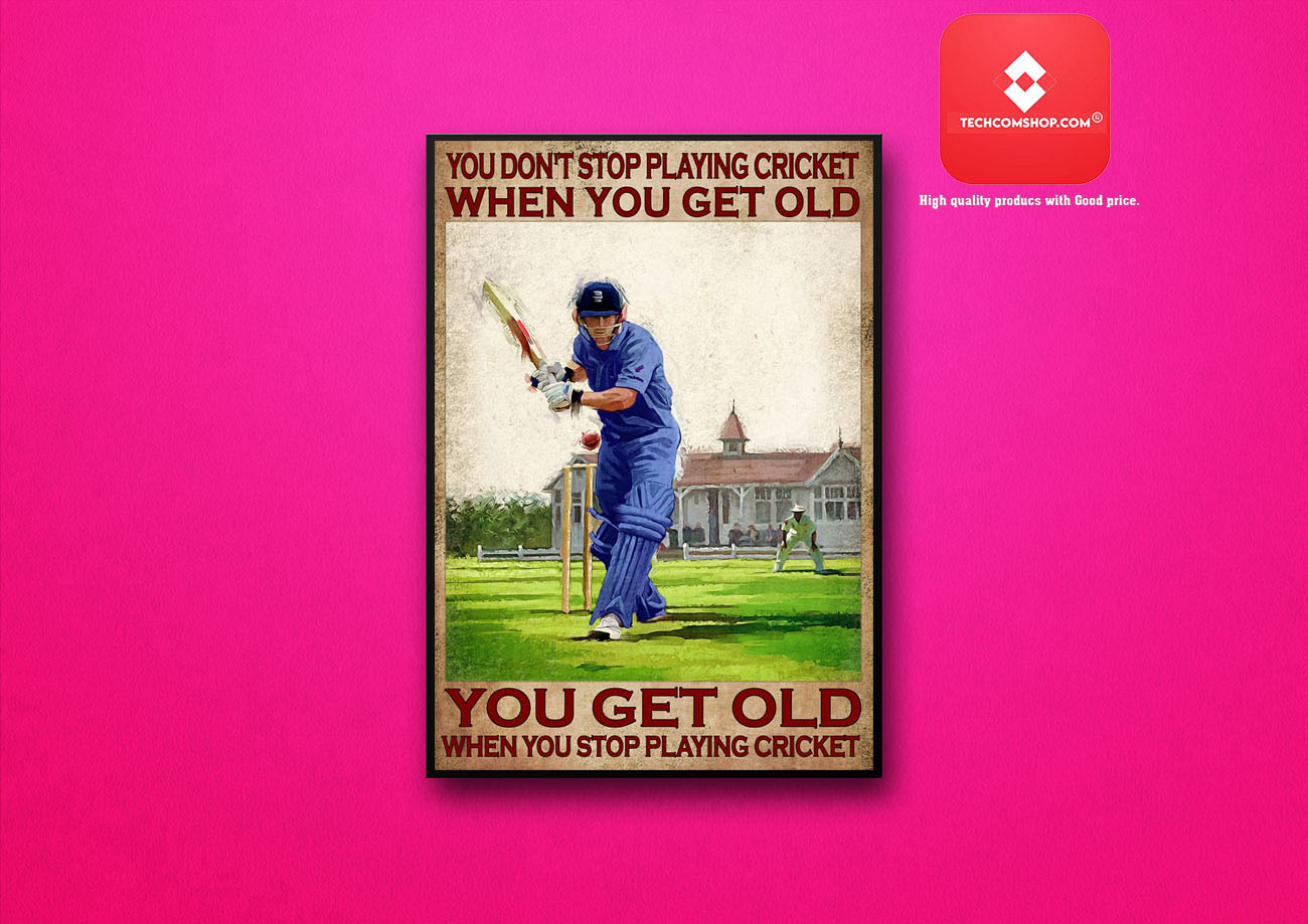 You don't stop playing cricket when you get old poster 8