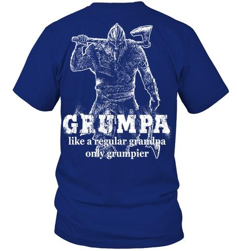 Grumpa like a regular grandpa only grumpier Shirt 6