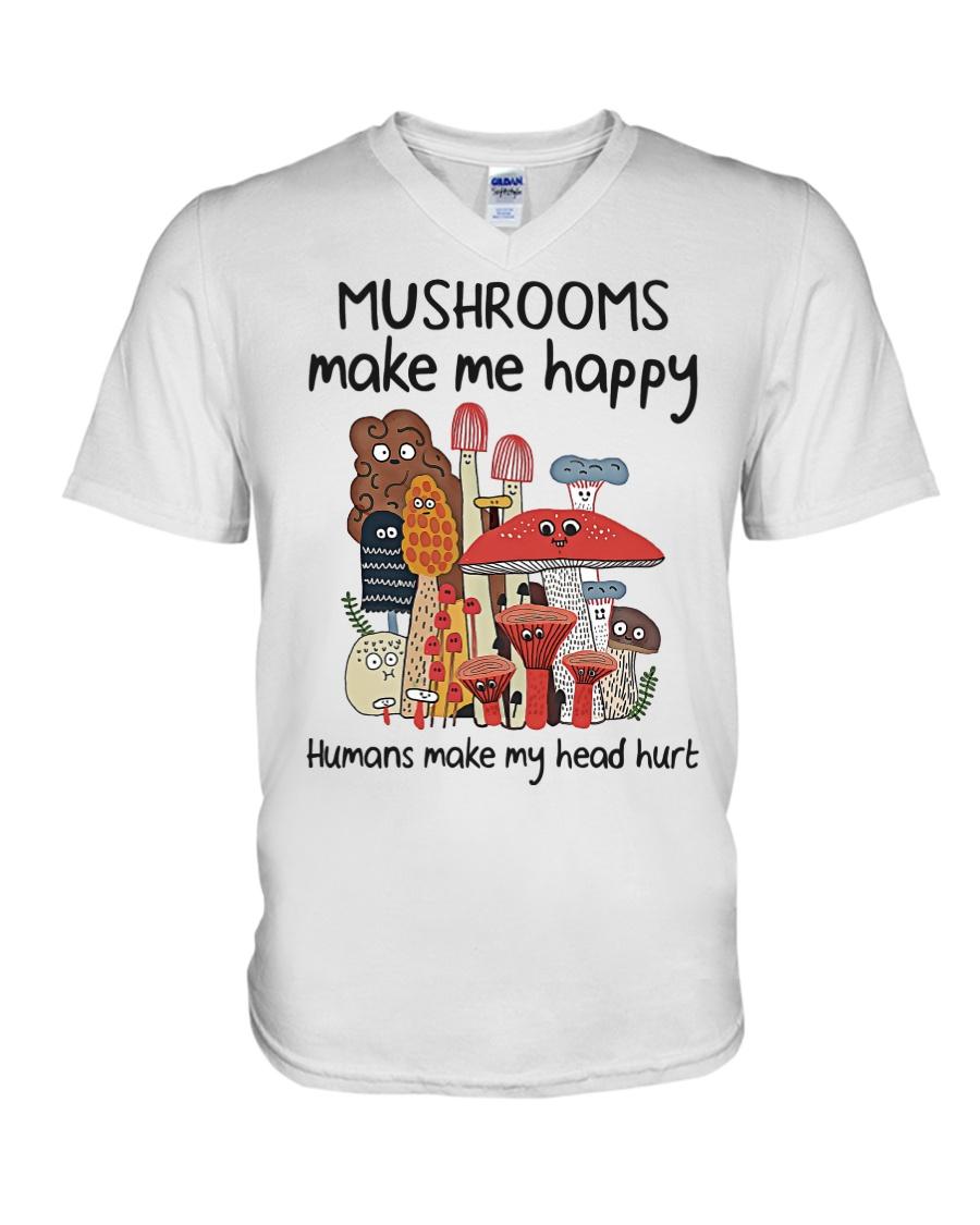 Mushrooms make me happy humans make my head hurt Shirt 11