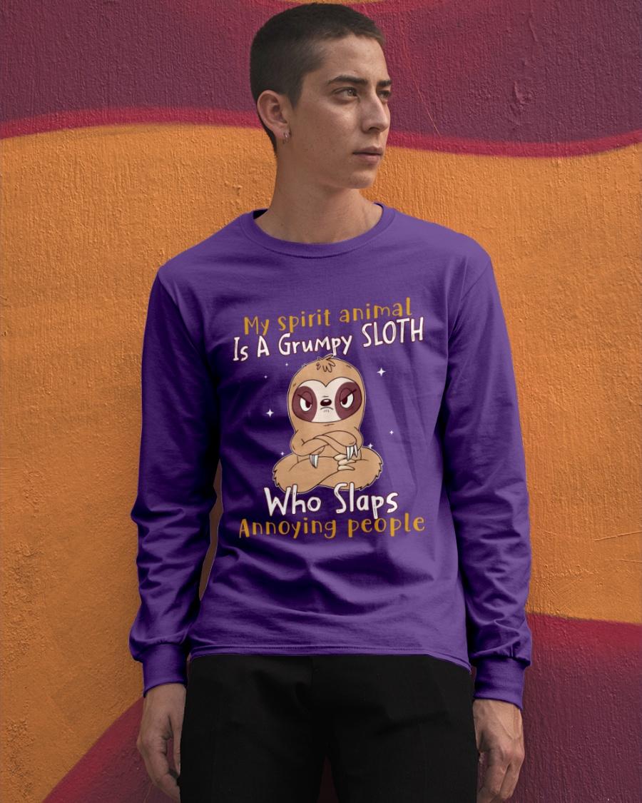Sloth My spirit animal is a grumpy Sloth who slaps annoying people Shirt 11