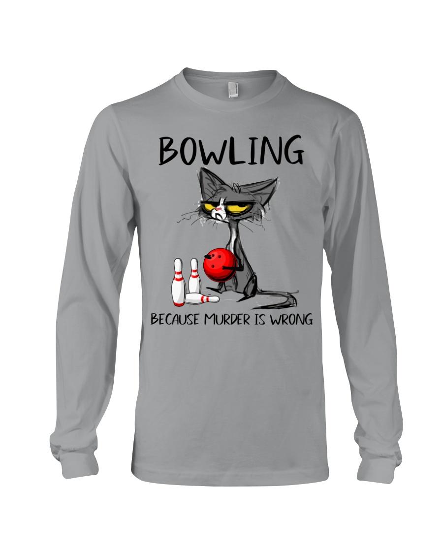 Cat bowling because murder is wrong Shirt 12