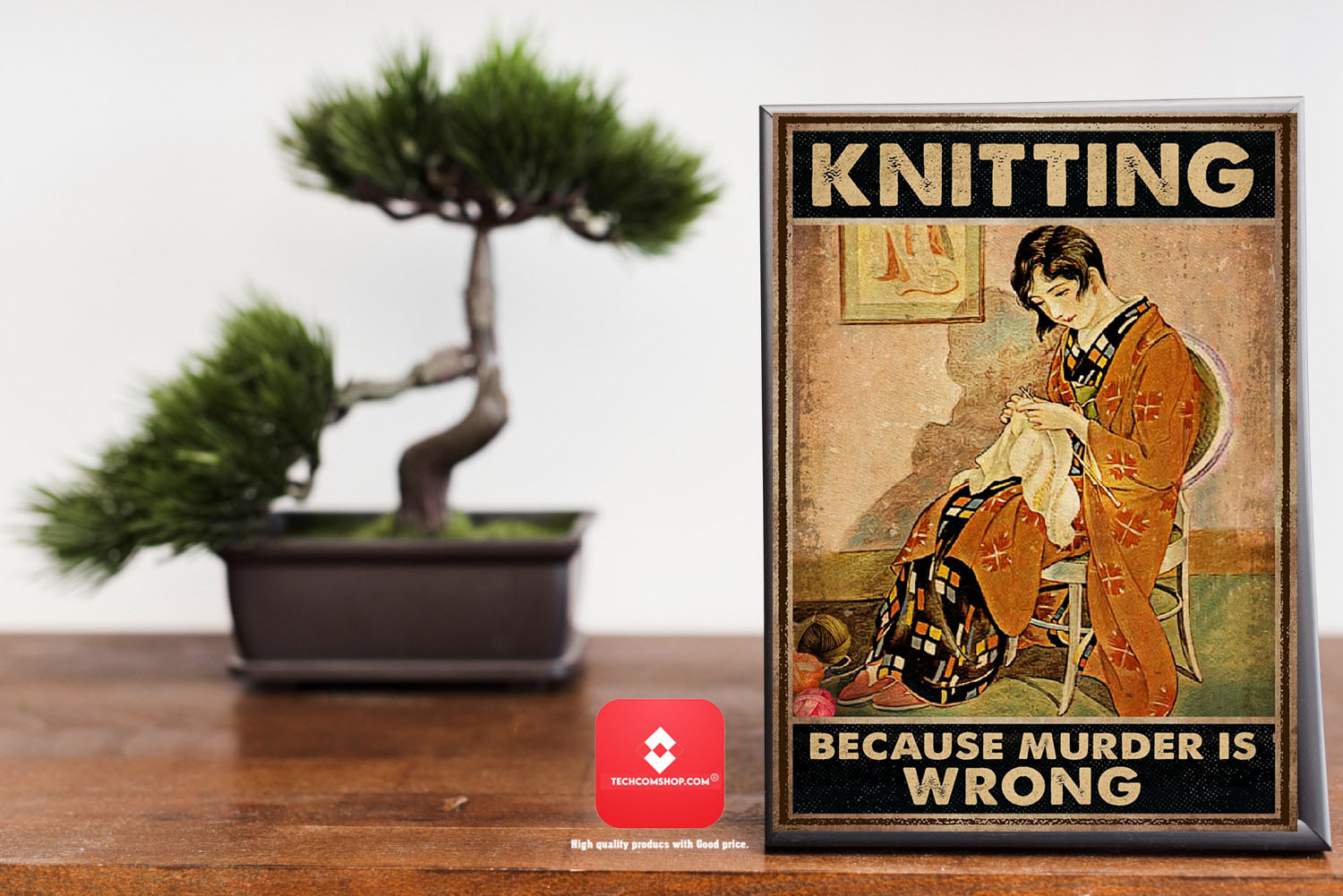 Knitting because murder is wrong poster 7
