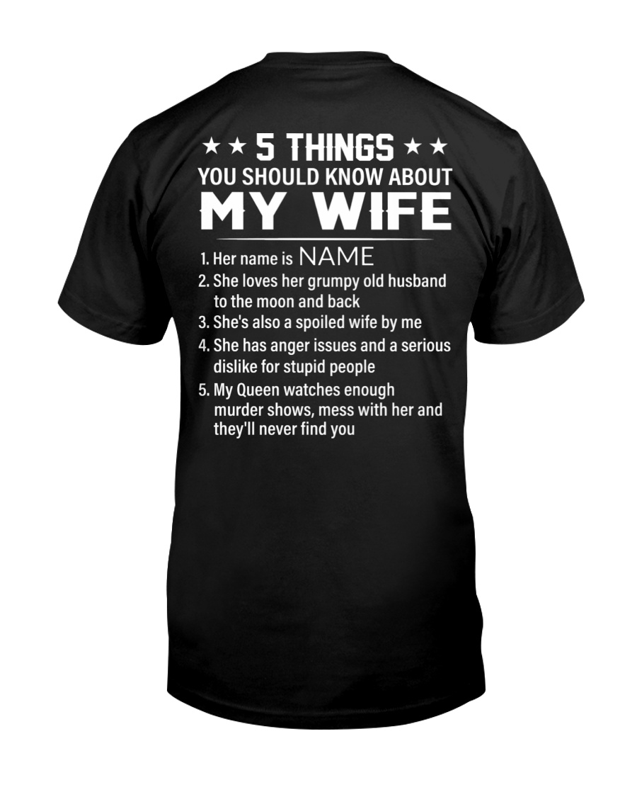 5 Things You Should Know About My Wife Shirt 10