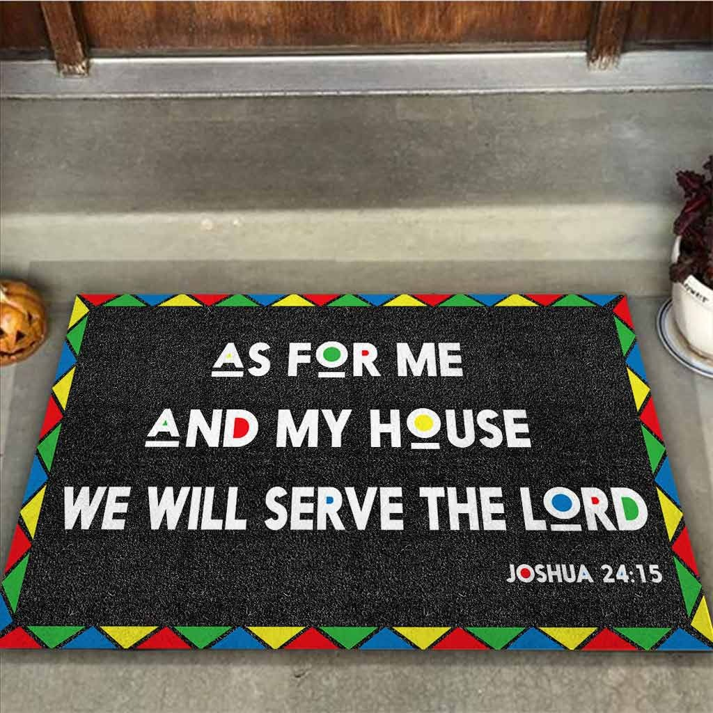 AS for me and my house we will serve the lord doormat 9