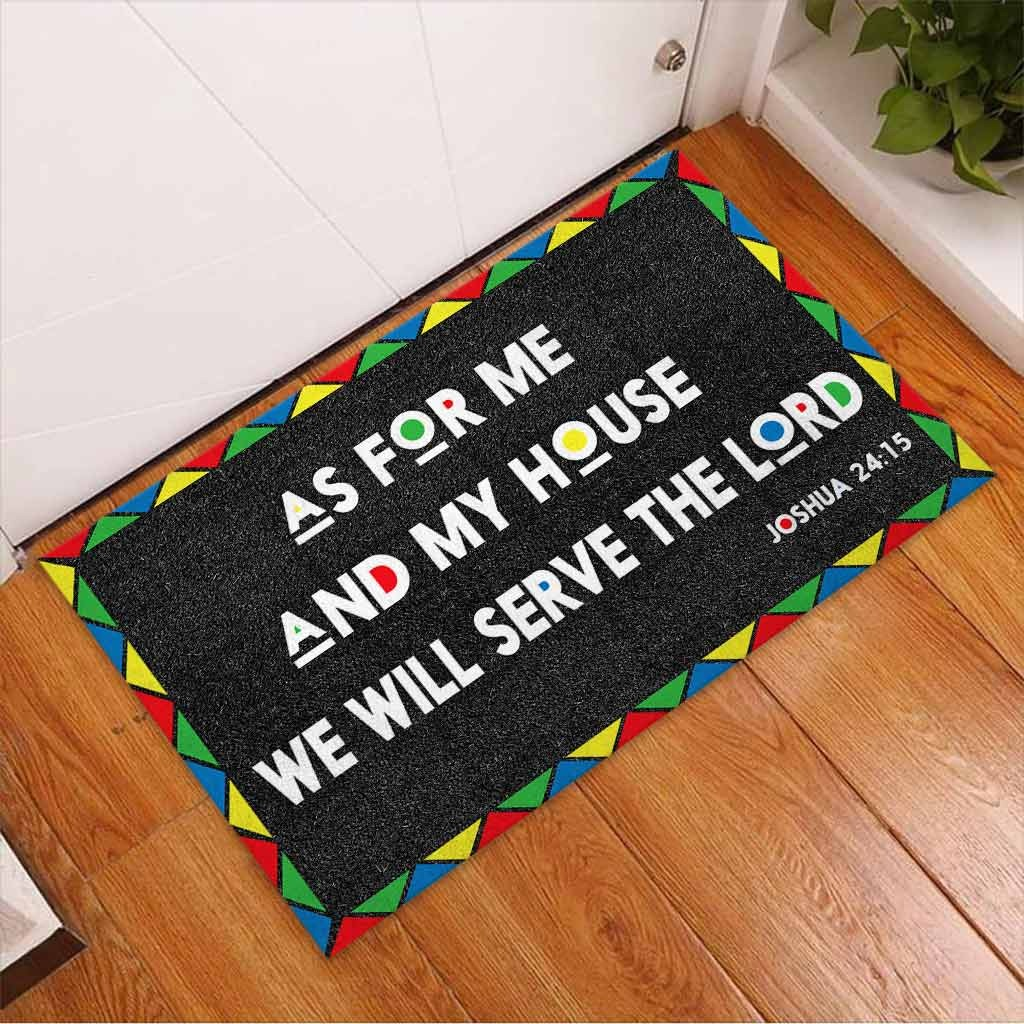 AS for me and my house we will serve the lord doormat 8