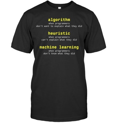 Algorithm Heuristic Machine Learning Shirt 3