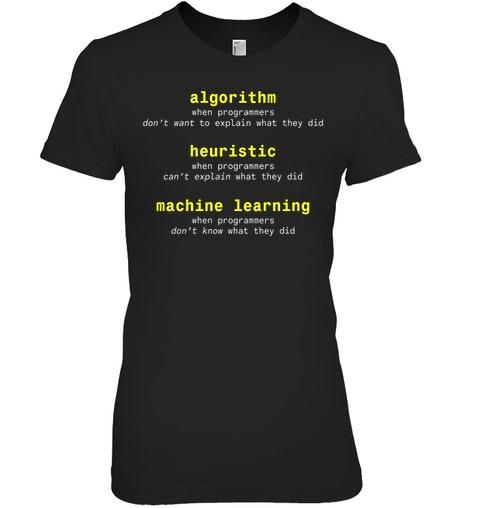Algorithm Heuristic Machine Learning Shirt 4