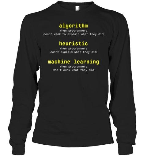 Algorithm Heuristic Machine Learning Shirt 6