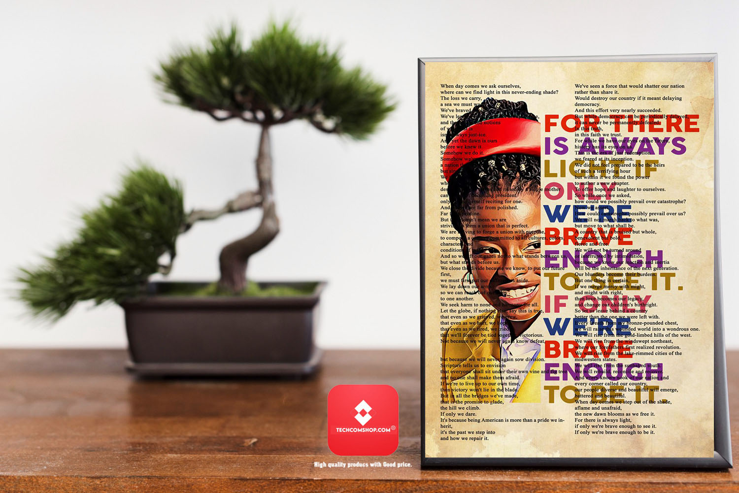 Amanda Gorman for there is always light if only we're brave enough poster 7