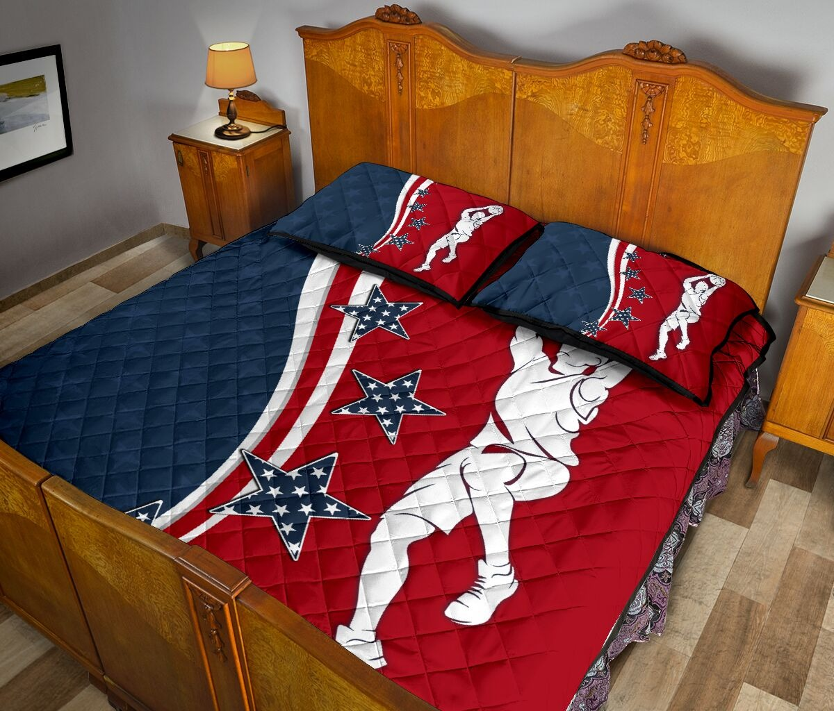 American baseketball quilt bedding set 10