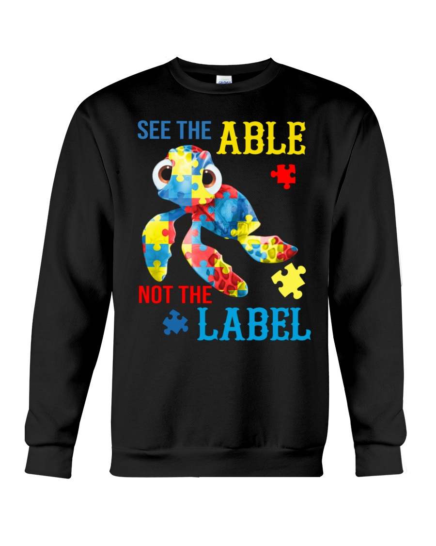 Autism Turtle See The Able Not The Label Shirt 12
