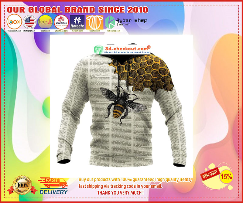 Bee dictionary page 3D hoodie 9