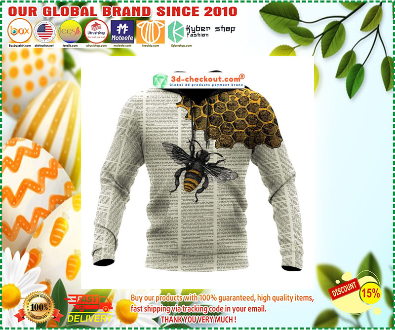 Bee dictionary page 3D hoodie 10