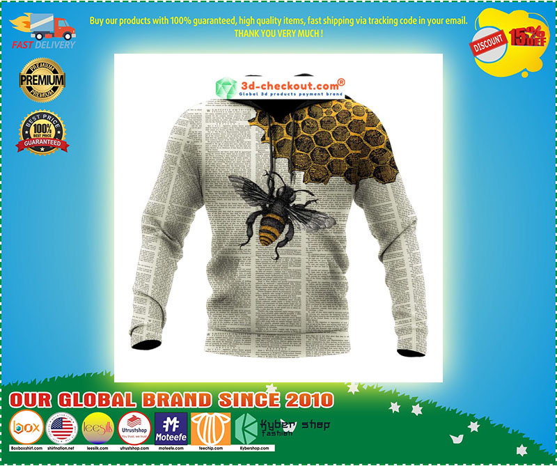 Bee dictionary page 3D hoodie 11