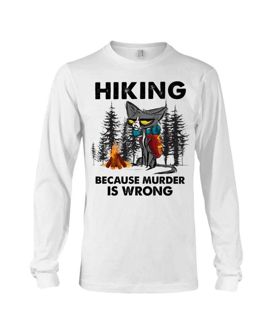 Cat Hiking Because Murder Is Wrong Shirt 10