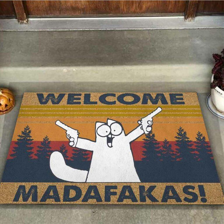 Cat Welcome madafakas doormat 7