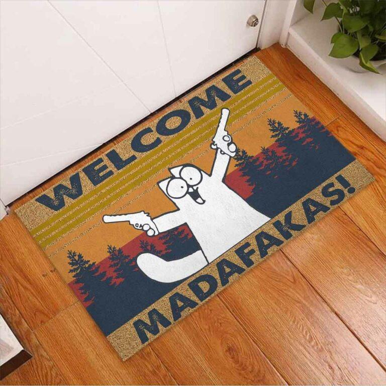 Cat Welcome madafakas doormat 9