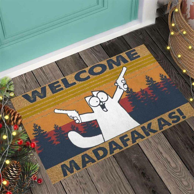 Cat Welcome madafakas doormat 8
