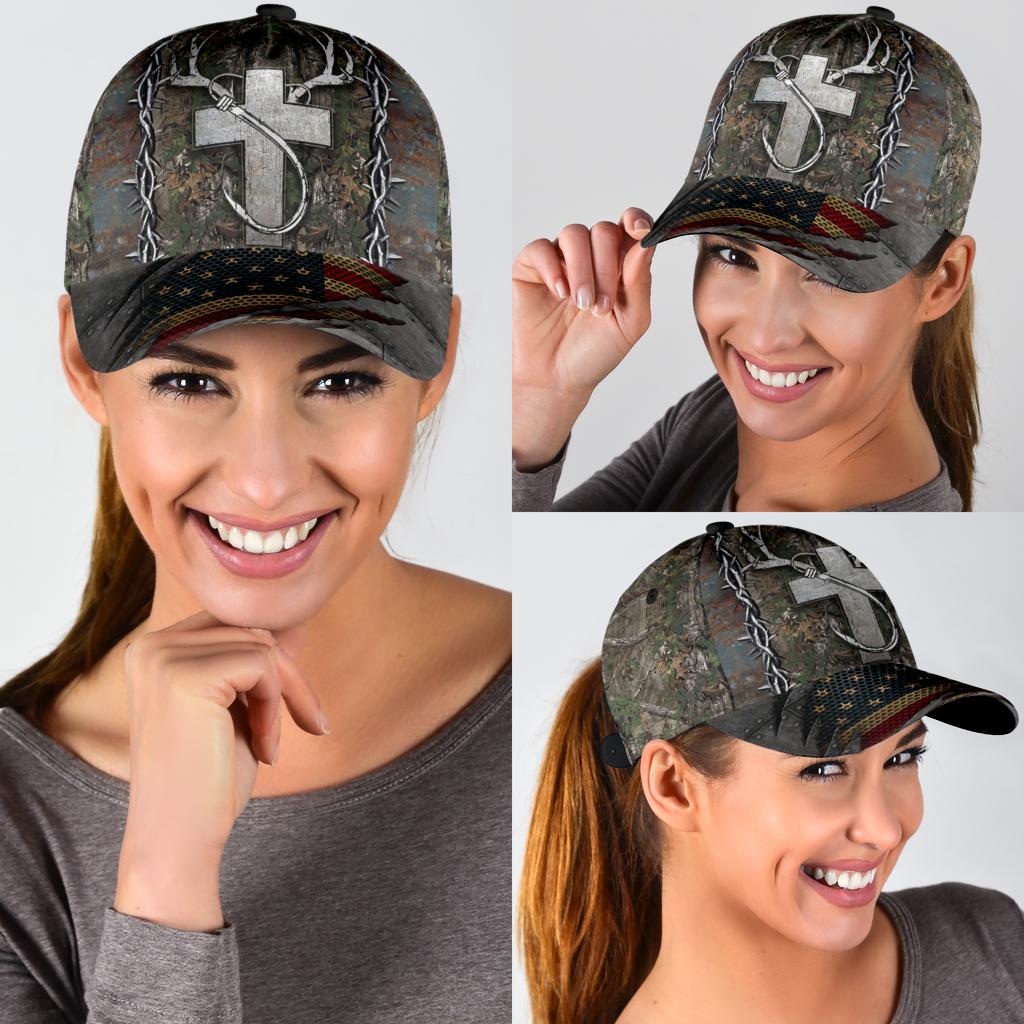Christian hunting fishing lover cap 10