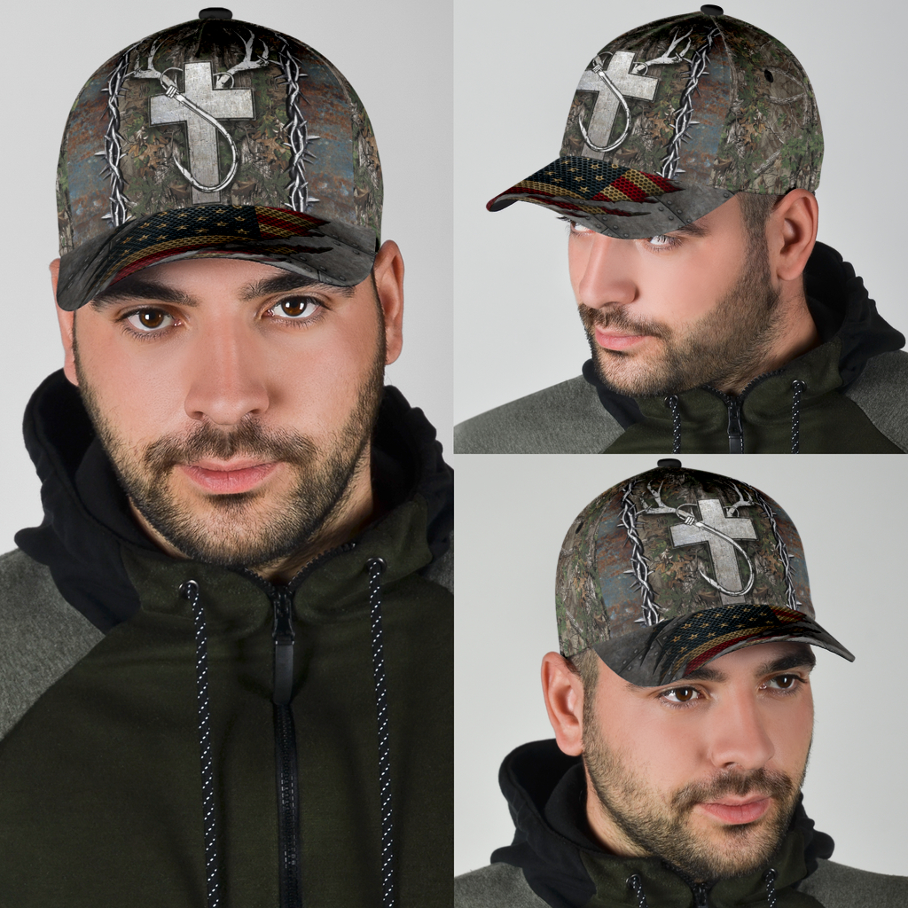Christian hunting fishing lover cap 11