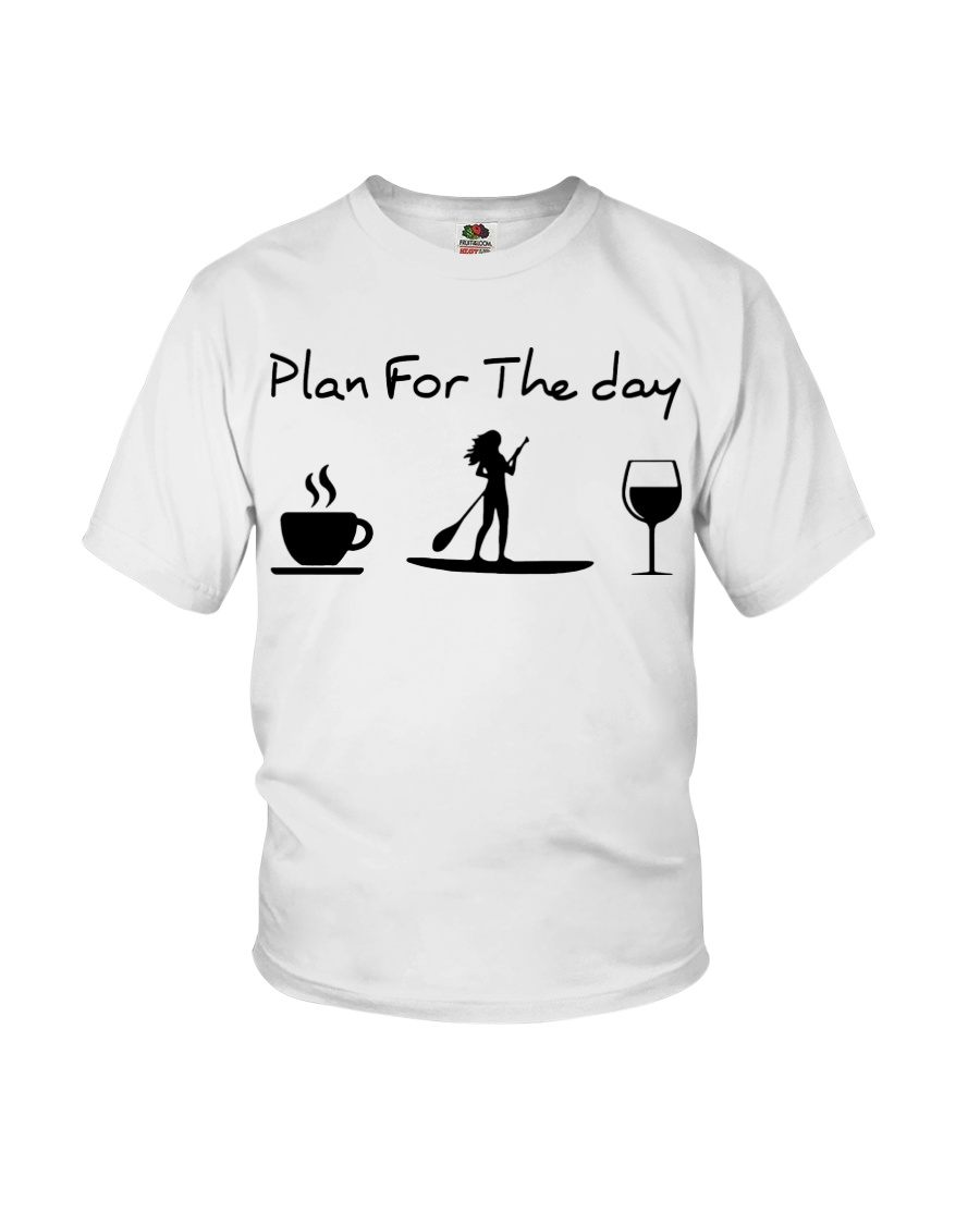 Coffee Paddle Poard Wine Plan For The Day Shirt 13