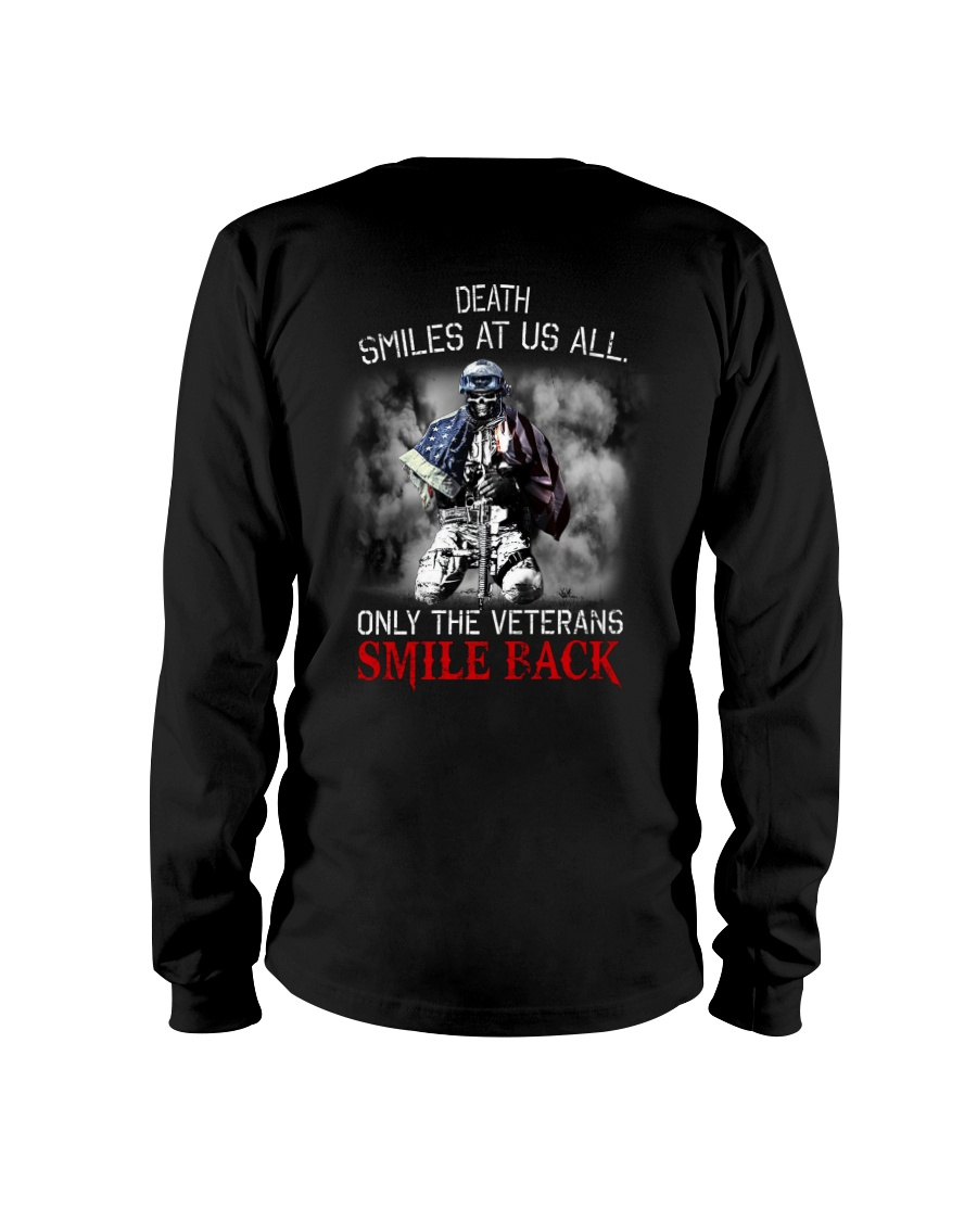 Death Smiles At Us All Only The Veterans Smile Back Shirt 11