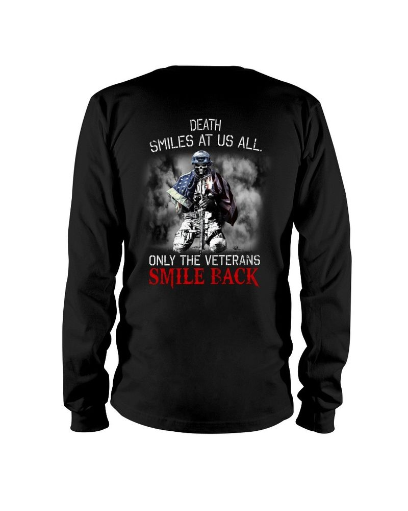 Death smiles at us all only the veterans smile back shirt 6