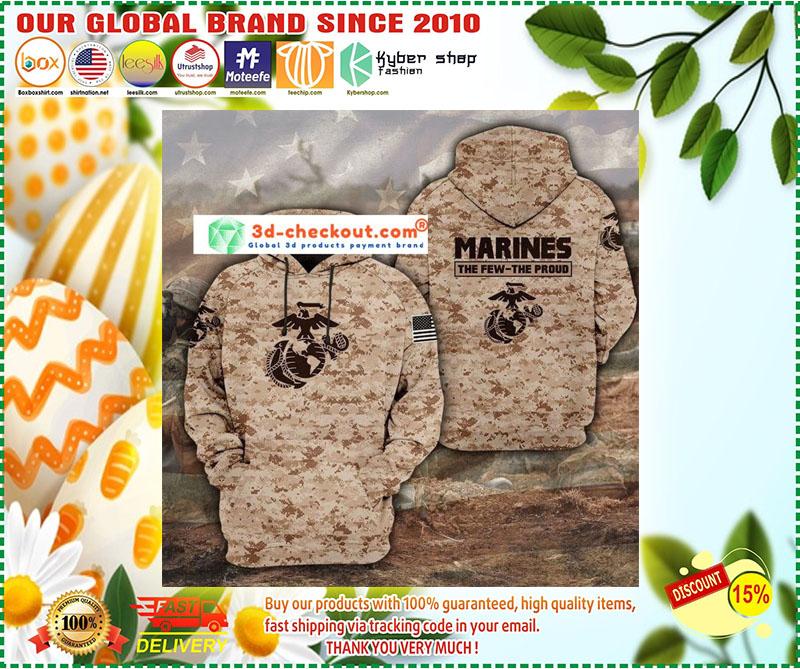 Desert Marpat the few the proud 3D hoodie 10