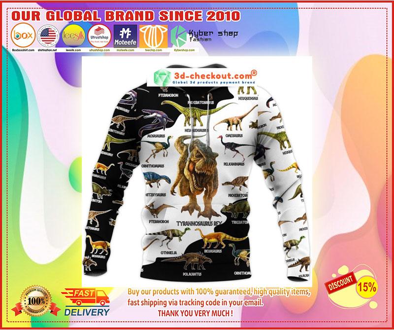 Dinosaur art T-rex jurassic world 3d hoodie 9
